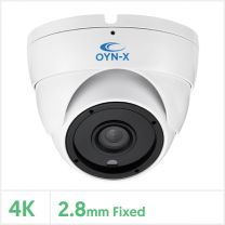 4K 4-in-1 Fixed Lens Turret Camera with 24pcs IR (White), 4K-TUR-FW24