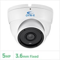 5MP 4-in-1 Fixed Lens Turret Camera with 24pcs (White), 5X-TUR-FW24
