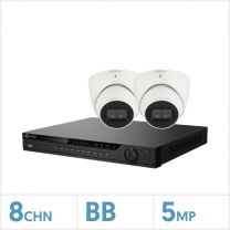 NVR Kit - 8 Channel NVR with 2 x 5MP 3000 Series Turret Cameras, BDL-5NVR-2TUR-KIT