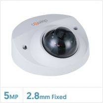 Cognitio 5MP Lite AI IR Network Fixed Lens Wedge Dome Camera (White), COG-5MP-WEDGE-FW
