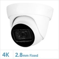 Cognitio 4K/8MP Fixed Lens Real Time HDCVI IR Camera (White), COG-8-TUR2-FW