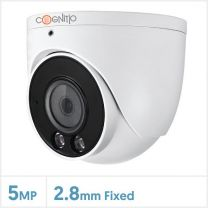 Cognitio 5MP Full-Colour Fixed Lens Big Turret with Audio (White), COL5-TUR-A-FW2