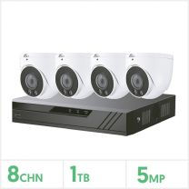 Eagle 8 Channel DVR with 4 Fixed Lens Turrets Kit (White), CVPLUS-8-4DOME-1TB