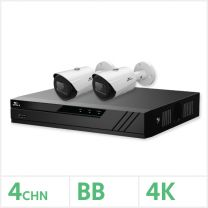 Eagle IP CCTV Kit - 4 Channel BB NVR with 2x 8MP Fixed Bullet Cameras (White), EAGLE-NVR-4-2BUL-8MP