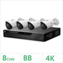 Eagle IP CCTV Kit - 8 Channel BB NVR with 4x 8MP Fixed Bullet Cameras (White), EAGLE-NVR-8-4BUL-8MP