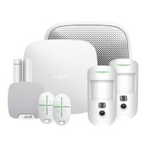 Ajax Kit 1 Cam Plus House with Key Fobs (White), 23308.67.WH1