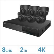 Viper NVR Kit - 8 Channel 2TB Recorder with 4 x 4K Fixed Turret Cameras (Grey), VKIT-4K-6E-G